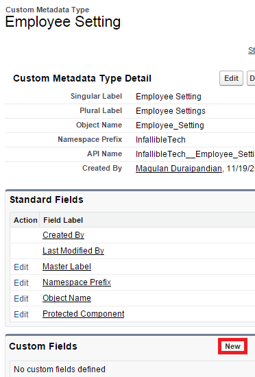 how to use custom metadata in apex