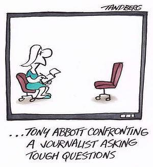 Tony Abbott confronting a journalist asking tough questions