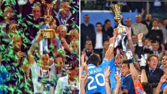 نابولي يتوج بكأس ايطاليا بعد فوزه على فيورنتينا في مباراة مشحونة