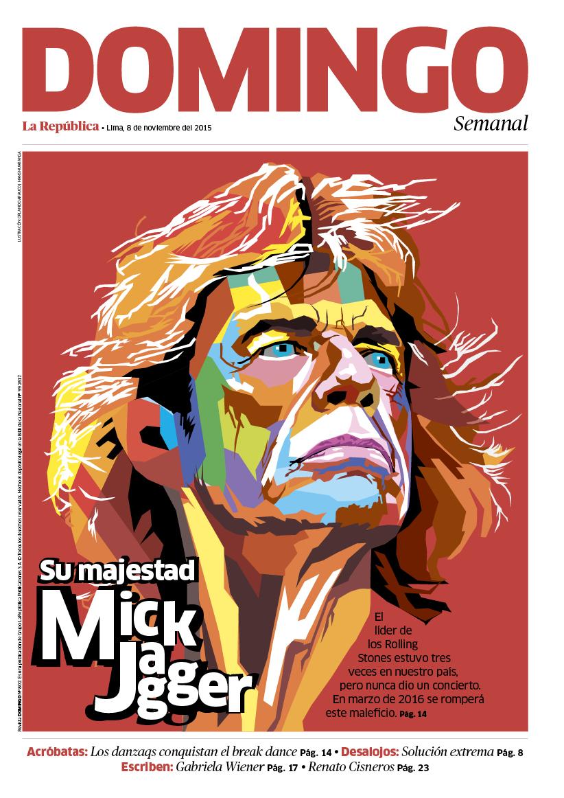 Ilustración en portada de revista Domingo | Columnas y Módulos