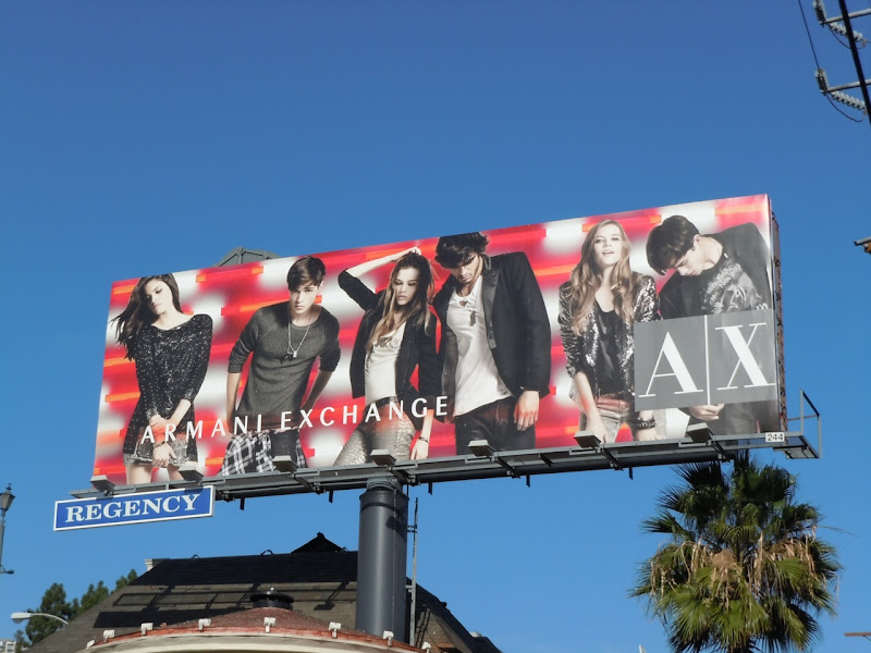 Armani Exchange Nov 11 billboard