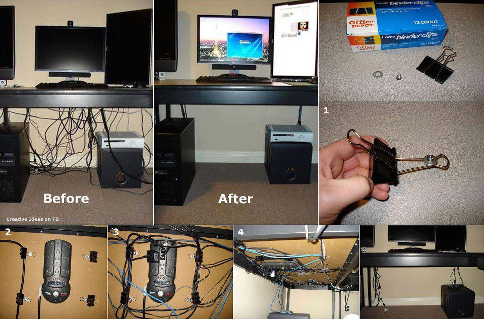 Organize computer cables - How to organize cables on desk ...