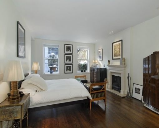 bedroom of greenwich village gold coast manhattan townhouse mansion of sarah jessica parker and matthew broderick