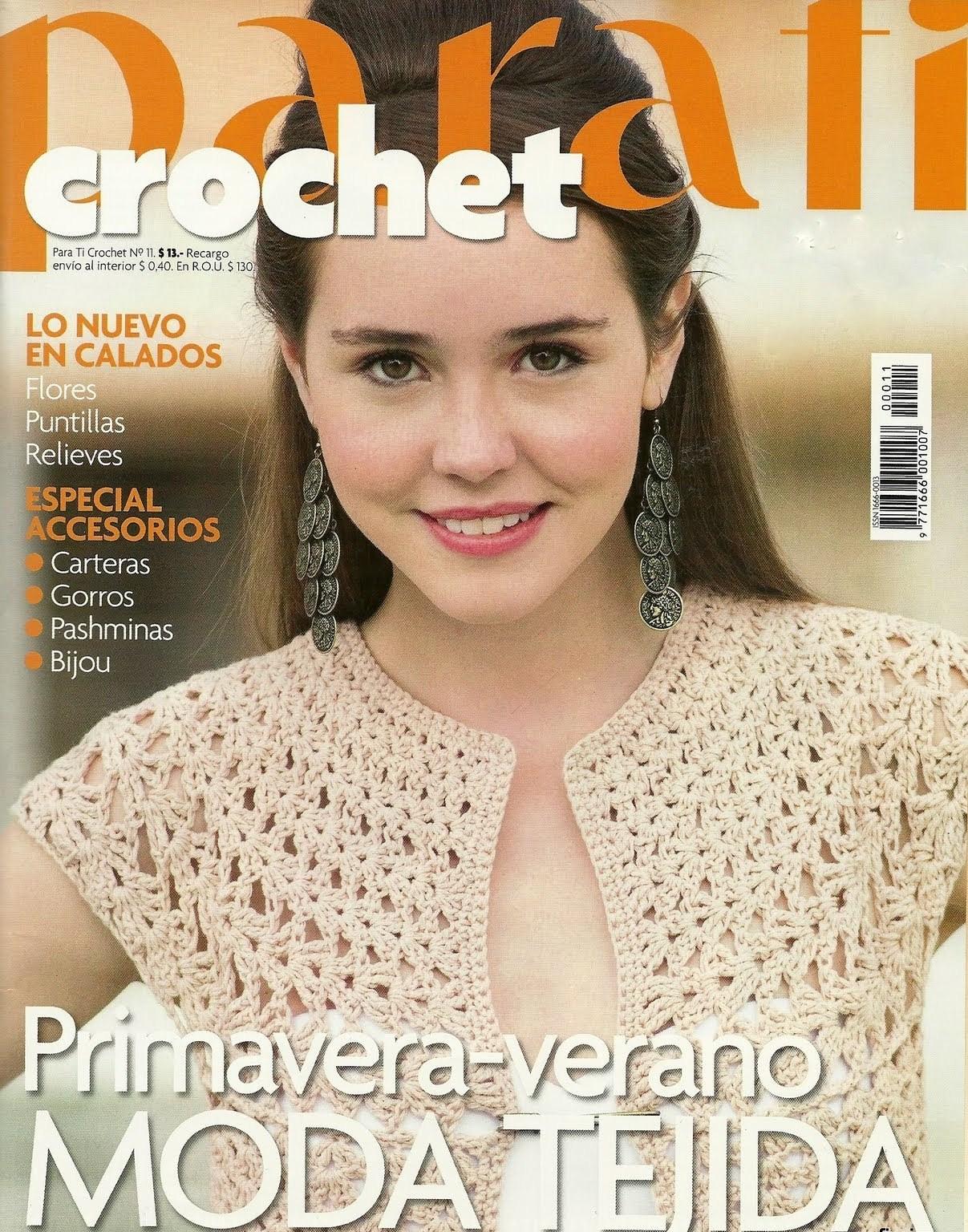REVISTAS DE MANUALIDADES PARA DESCARGAR GRATIS: Para ti Crochet