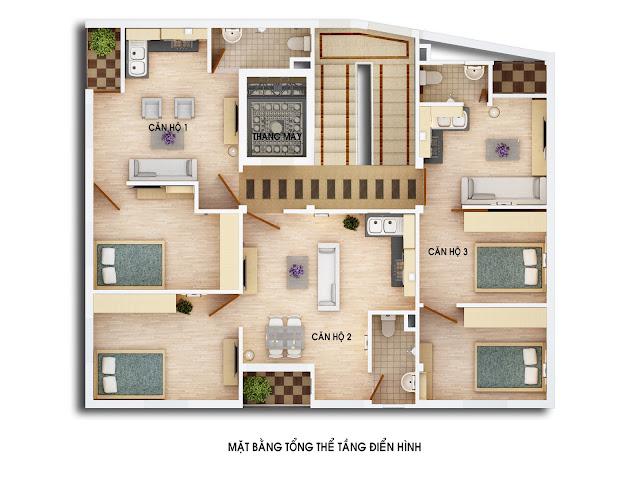 Mặt bằng tổng thể căn hộ chung cư mini Nhật Tảo 2 Từ Liêm