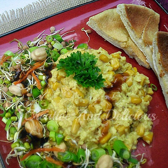 Chinese Style Corn Scrambled Eggs ~ Brunch or Early Dinner served in a delicious, quick and easy way ! #Brunch #ScrambledEggs #EarlyDinner