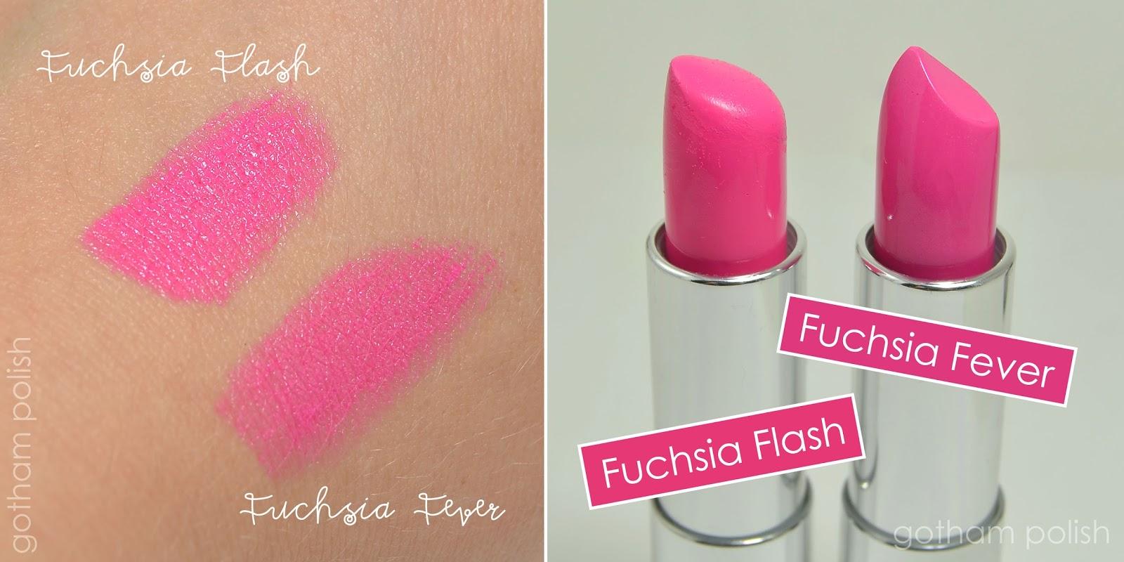 Maybelline Fuchsia Fever vs Fuchsia Flash