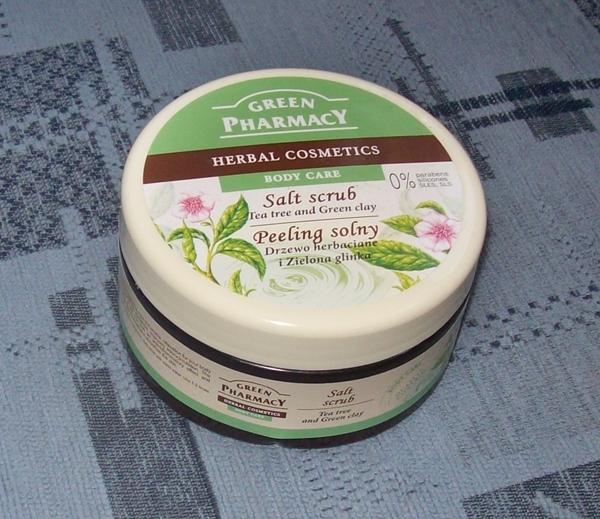 Zdzieramy solą! :) Peeling Drzewo Herbaciane i Zielona Glinka, Green Pharmacy