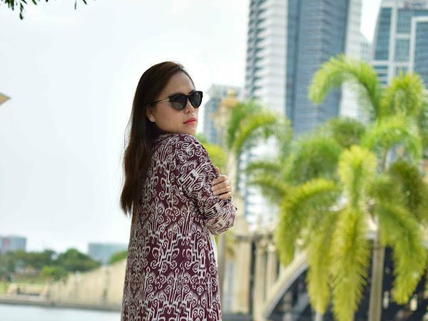 Outfit Diary : Pua kumbu long cardigan