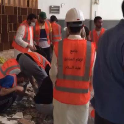تنظيف جامع الإمام الصادق عليه السلام بالكويت