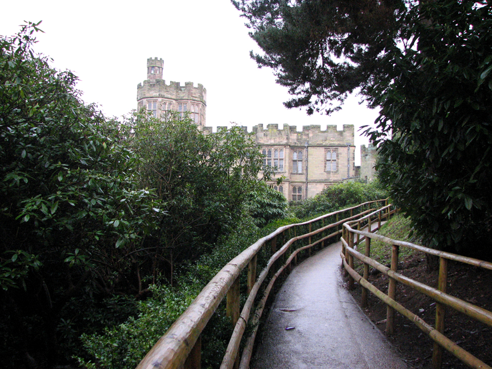 Path to the Mound, Warwick Castle, England