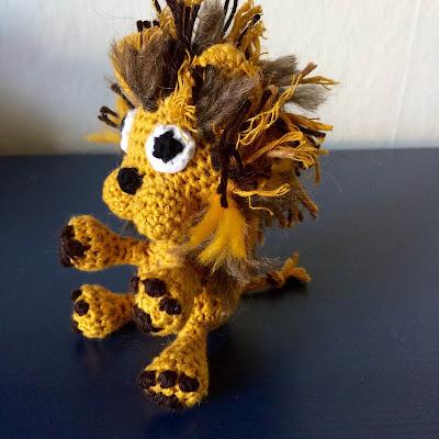 hæklet løve