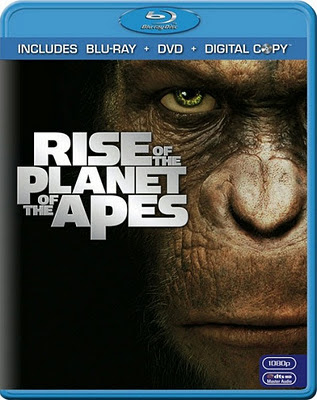 Rise of the Planet of the Apes (2011) BRRip 925 MB, rise of the planet of the apes, blu ray dvd cover
