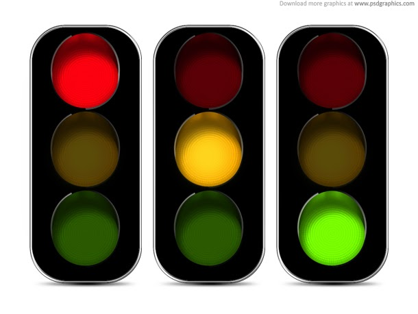 Traffic Lights Icon PSD