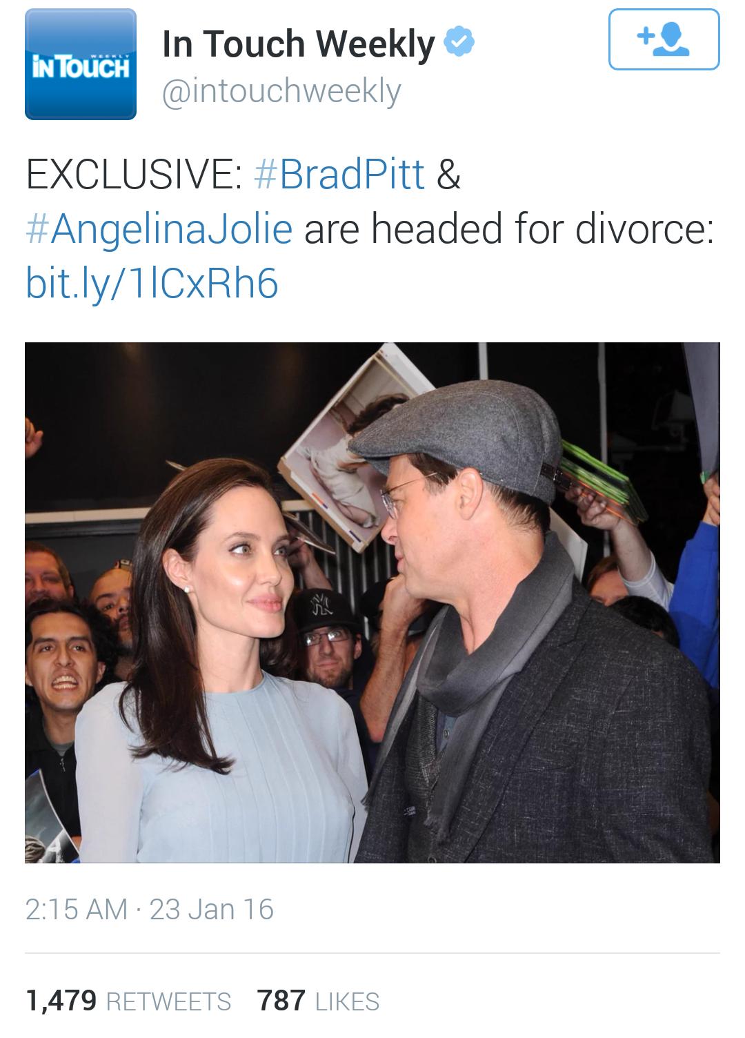 Brad Pitt and Angelina Jolie divorce