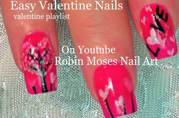 Nail Art By Robin Moses Valentine Nails Cute Valentine Ideas