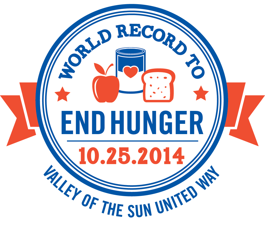United Way logo for World Record to End Hunger event, 10/25/14.