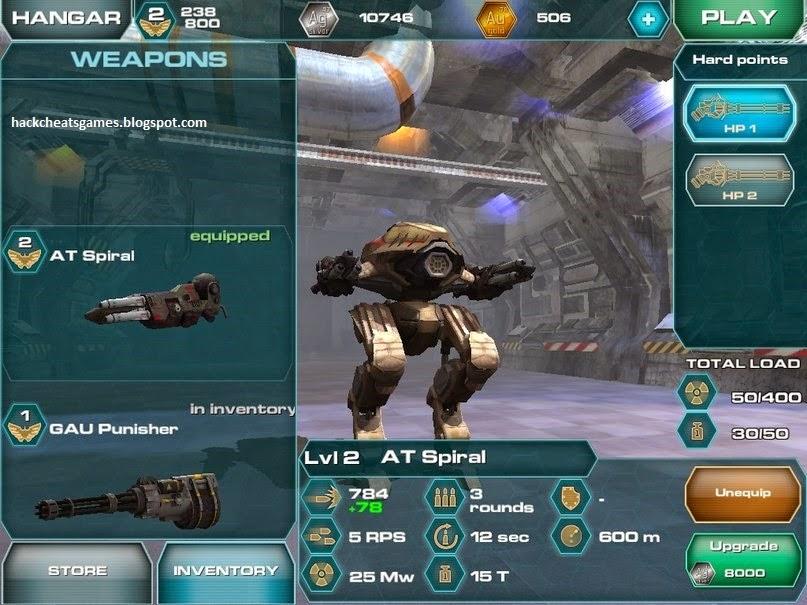 walking war robot hack