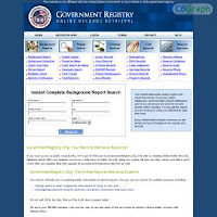 GovernmentRegistry.org - Public Records Online
