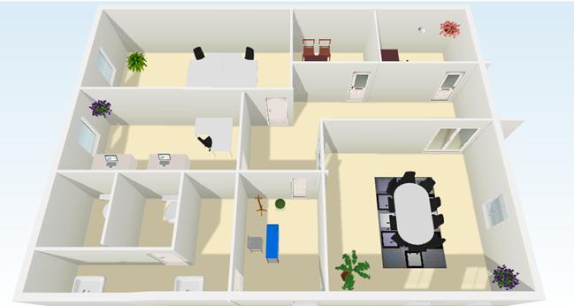 Bolsiel s a proyecto de fin de curso planos oficina for Diseno de oficinas pequenas planos