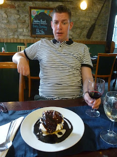 The meal at The Galley in Plymouth was finished off with the Homemade Gluten Free Profiterole - it was MASSIVE!