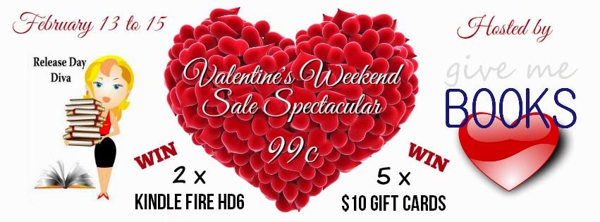 {Sale Alert+Giveaway} Valentine's Weekend Sale Spectacular! @givemebooksblog