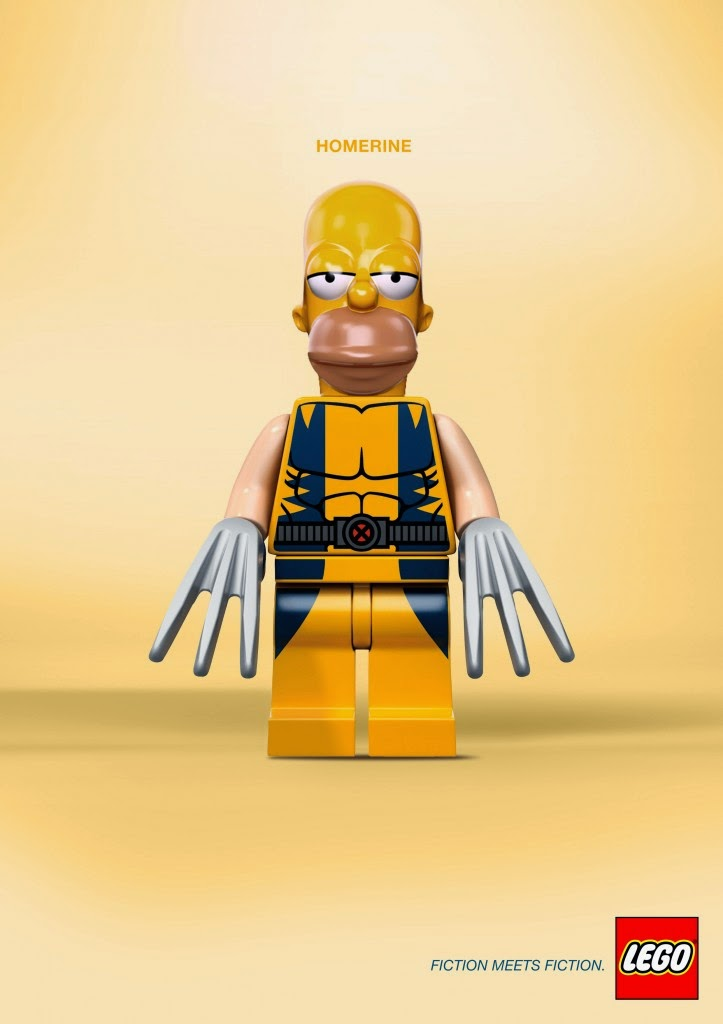 LEGO, Fiction meets fiction, Homer Simpson y Wolverine