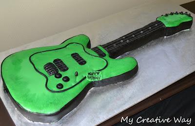 My Creative Way Life Size Guitar Cakes Sweet Friday