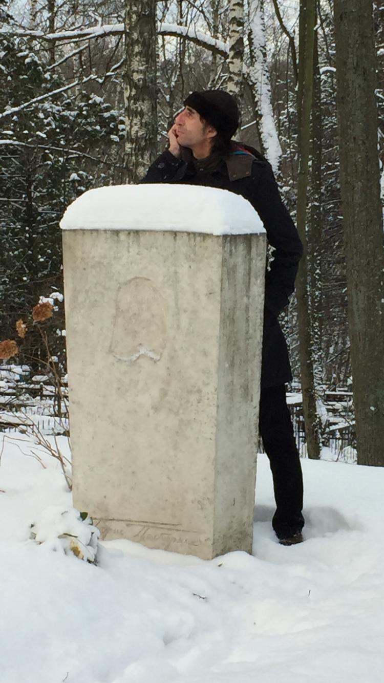 En la tumba de Boris Pasternak