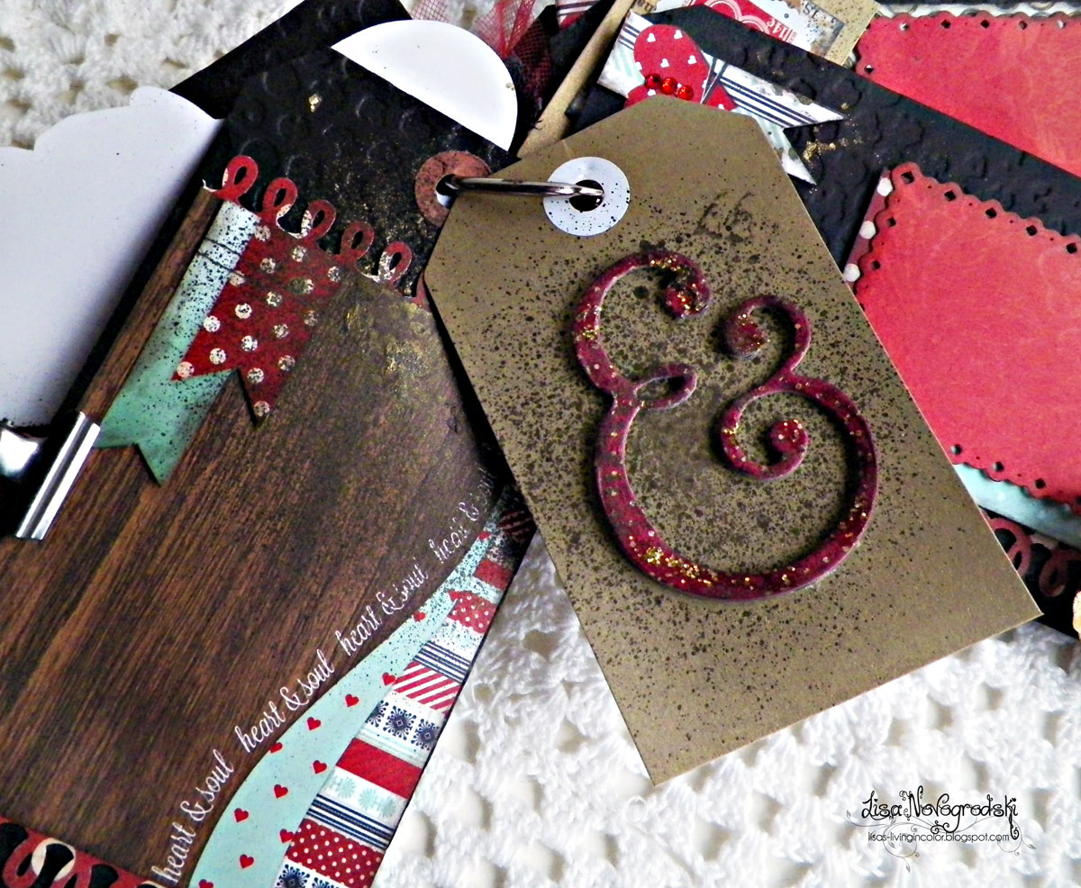 Tag Mini Album by Lisa Novogrodski using Star Crossed By BoBunny
