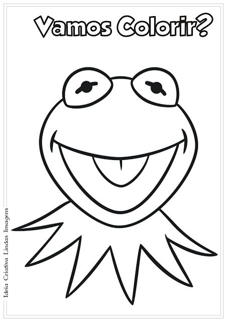 Os Muppets Caco desenho para colorir