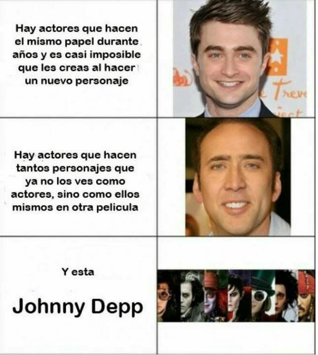 Y está Johnny Depp
