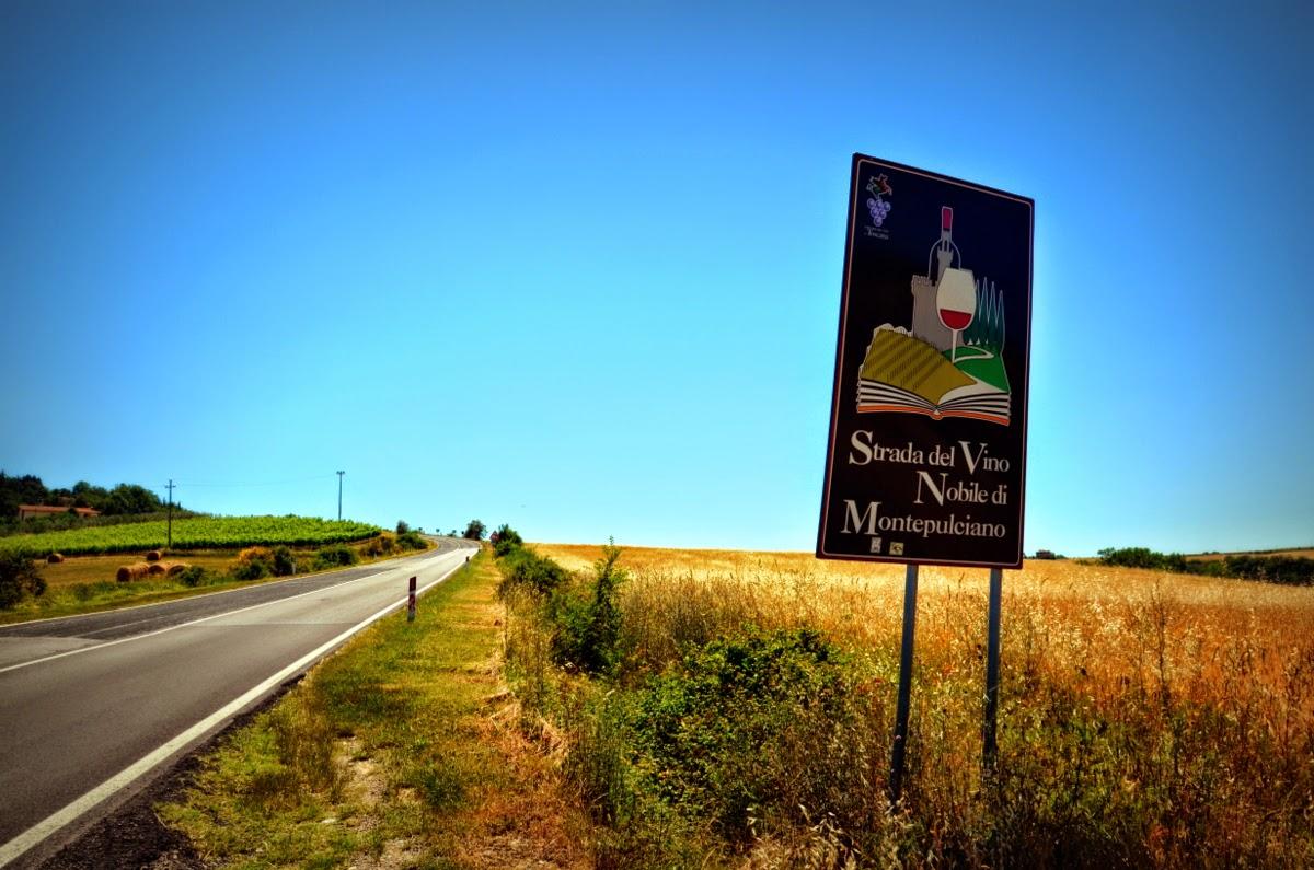 montepulciano wine roads tuscany