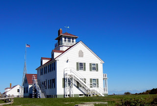 The Coast Guard station on Coast Guard Beach in Eastham, MA