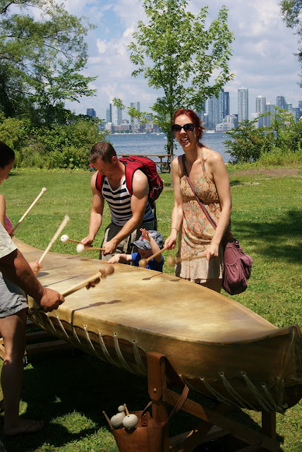 FIGMENT Art and Culture Festival on Toronto Island, free, fun, family, activity, summer, the purple scarf, melanieps, ontario, canada, Canoe Drum