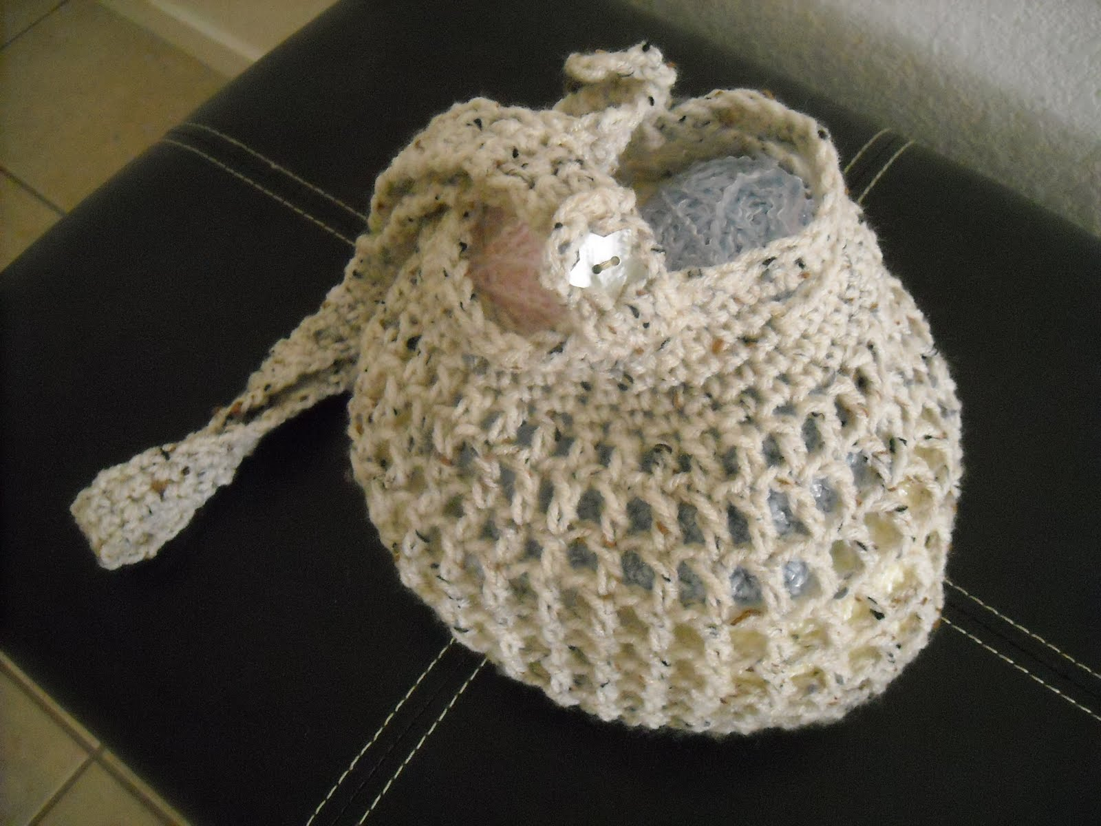 Crochet Shoulder Bag Pattern Free : ... through the chain 3 space at the top of bag and button ends of strap