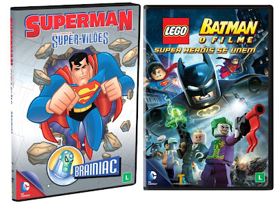 Superman – Super-Vilões – Brainiac e Batman Lego – O Filme – Super Heróis se Unem
