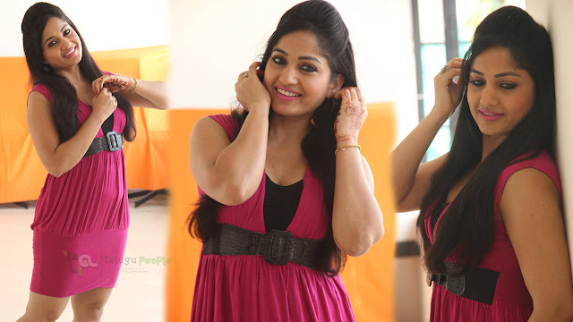 Madhavi Latha Latest Photos In Pink Dress