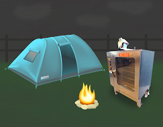 Combination oven camping