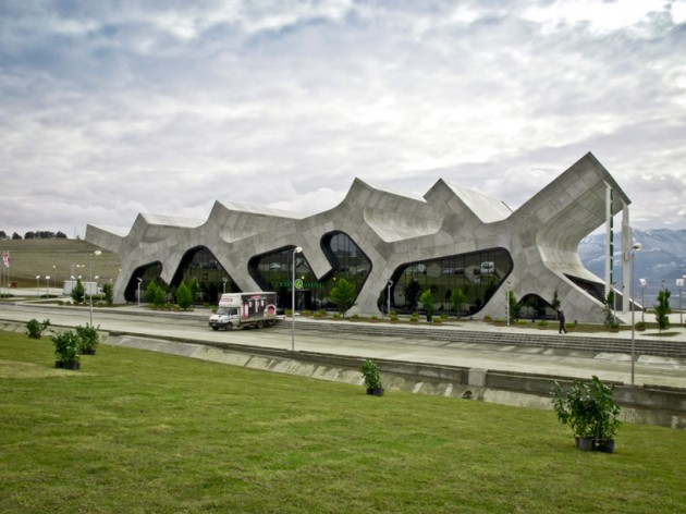 Rest stops by j mayer h modern architects modern architect for Architecture rest