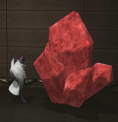 Red Large Crystal size comparison