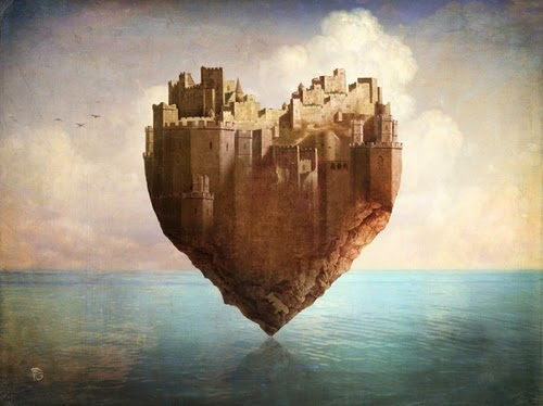 12-My-Heart-is-my-Castle-Christian-Schloevery-Surreal-Paintings-Balance-of-Mind-and-Heart-www-designstack-co
