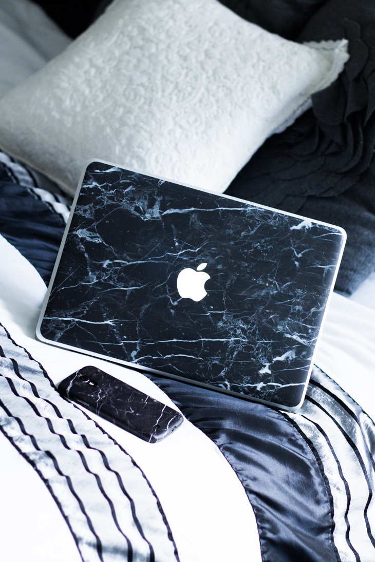 Fashion Attacks Case App marble phone case Apple macbook sticker
