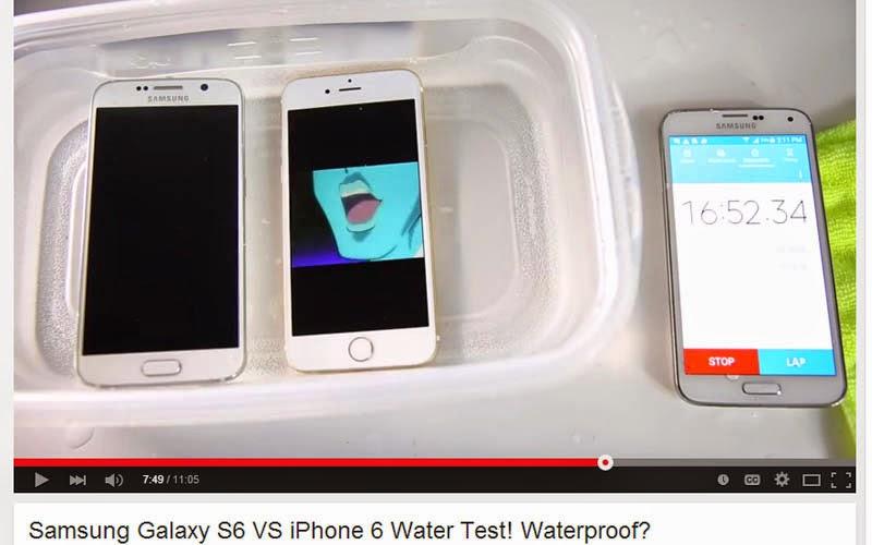 Adu Tangguh Galaxy S6 dengan iPhone 6 di dalam Air