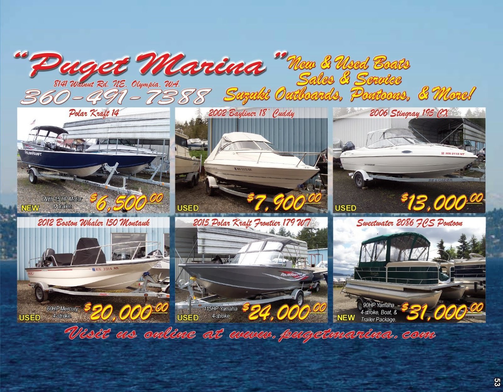 Puget Marina  Quality Boat Sales & Service Excellence Since 1965