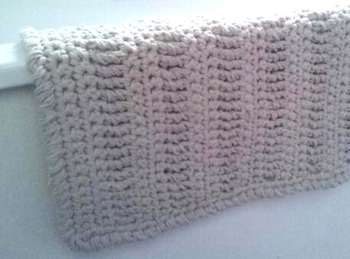 Cool Crochet Area Rug White With Flower Petals Bathroom Rug By Ekra
