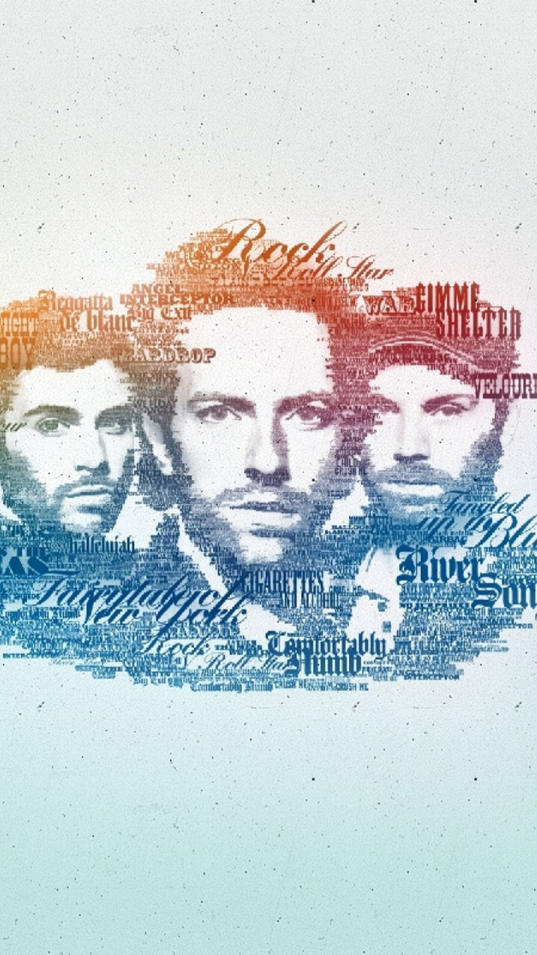 Coldplay Faces Music Band Typography Android Wallpaper | (Best Andro ...