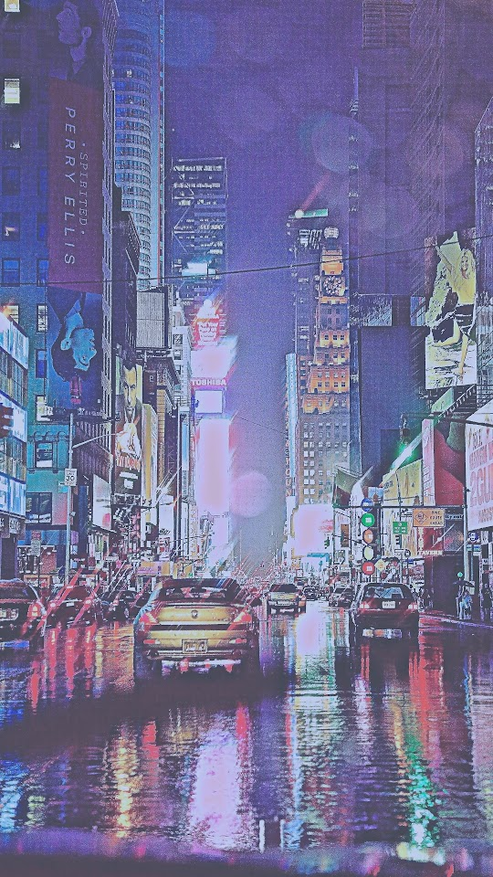 Vintage New York City Rain  Galaxy Note HD Wallpaper