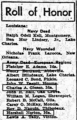 north caddo parish fallen heroes Timberwolves 104th Infantry Division listed among three ida residents lost within a short period of time