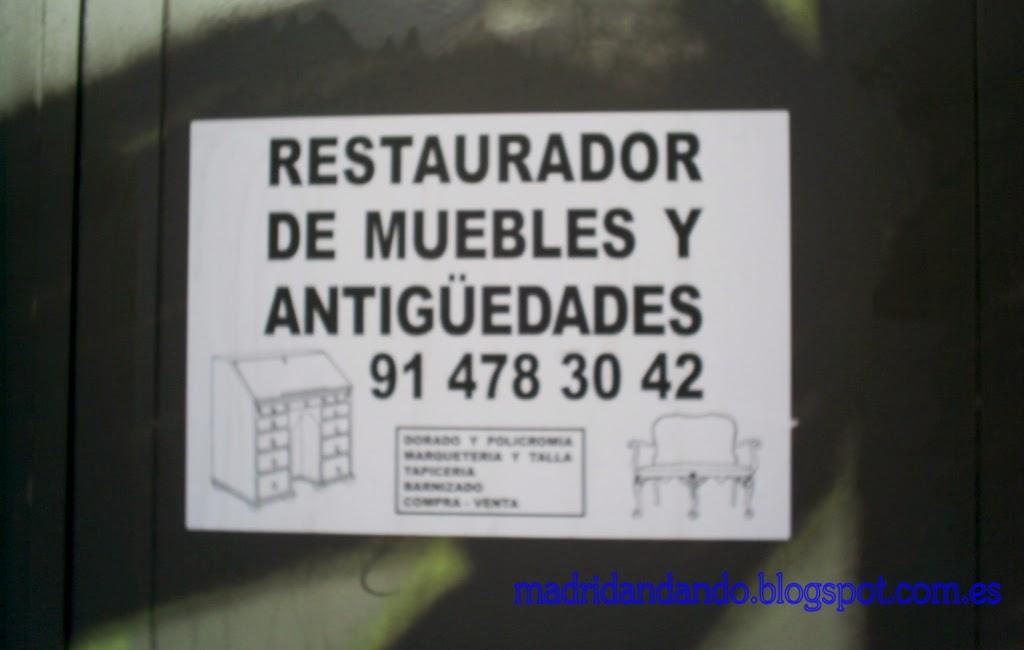Madrid andando: Restaurador de muebles y antigüedades